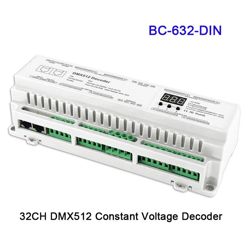 24 32 40 canaux DMX512/8bit/16bit entrée DC12V-24V RJ45 connecter LED contrôleur de décodeur rvb/RGBW pour LED lampe à bande