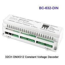 24 32 40 канала DMX512/8bit/16bit Вход DC12V-24V RJ45 подключения светодиодный RGB/RGBW Декодер контроллер для светодиодный полосы света лампы