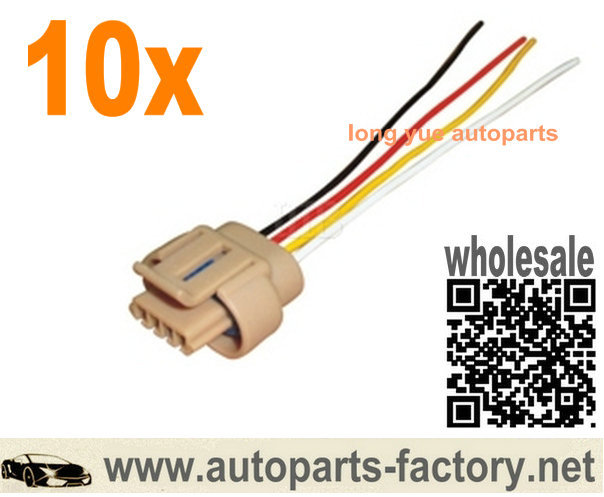 longyue 10pcs Ignition Coil Connector Harness case for Isuzu Daewoo Nubira Aveo Opel 96350585 8 longyue 10pcs ignition coil connector harness case for isuzu Jaguar Injector Harness at bayanpartner.co