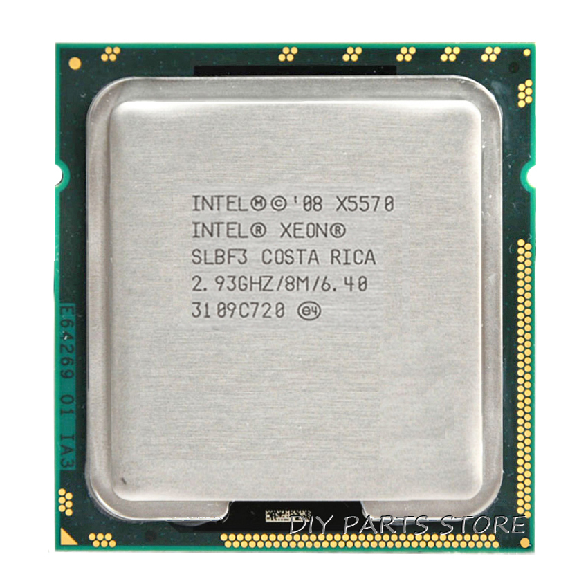 INTEL XONE X5570 CPU INTEL X5570 PROCESSOR Quad core 2.933 MHZ LeveL2 8M 4 core WERK VOOR lga 1366 montherboard