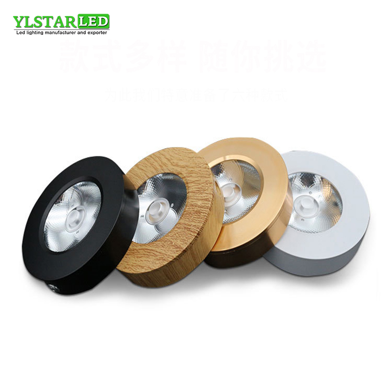 YLSTAR Free shipping LED spotlight 5/7/10/12/15/18W 220V ceiling down light surface wall mounted kitchen cabinet COB led chip free shipping ip20 2 13w cut out 262 124mm 40degree citizen cob led grille down light