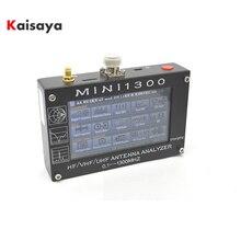 "Mini1300 4.3 ""מגע LCD 0.1 1300MHz 13.GHz UV HF VHF UHF ANT SWR אנטנת Analyzer מטר + נטענת batery l3 003"