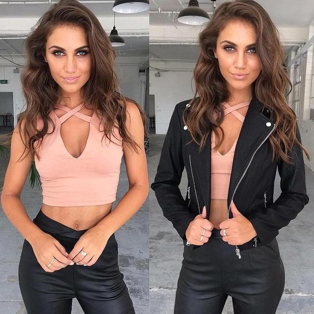 2016 Fashion Summer style sleeveless cross casual women tank top Sexy hollow out black bustier crop tops Fitness girls white