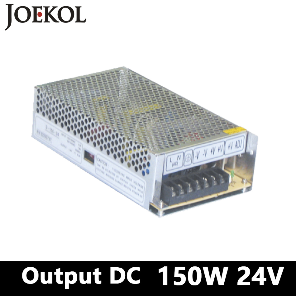 switching power supply 150W 24v 6A,Single Output ac dc converter for Led Strip,AC110V/220V Transformer to DC 24V 1200w 48v adjustable 220v input single output switching power supply for led strip light ac to dc
