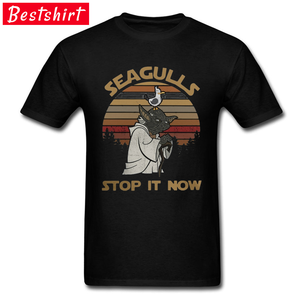 Star War Yoda T Shirts Rock Music Band Movie Tshirts Starwars Men Slim Fit Fitness Summer Tshirt Seagulls Stop It Now