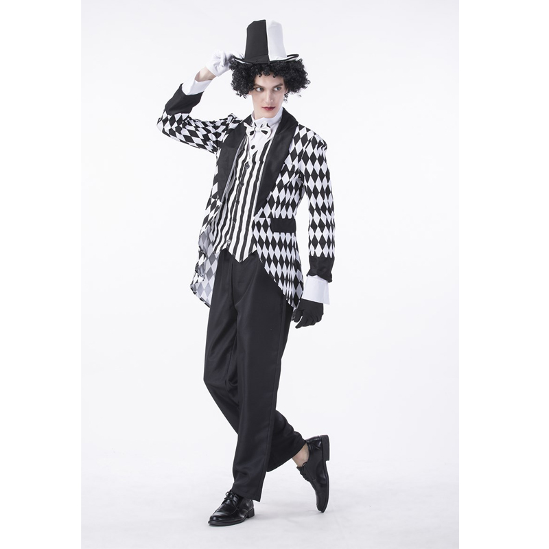 SESERIA Halloween Party Christmas Festival Role-playing Suit Magician Costume for Men