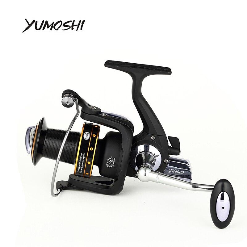 YUMOSHI 2017 moulinet spinning 7000 8000 13 + BB d'eau salée haute-profil haut de gamme boutique CNC culbuteur de pêche bobines