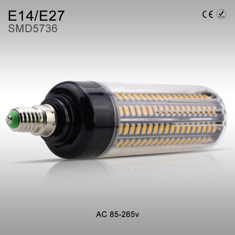 More Bright LED lamp Corn Bulb E27 AC85-265V No Flicker Constant Current SMD5736 High power E14 5W 7W 9W 12W 15W 20W LED lights