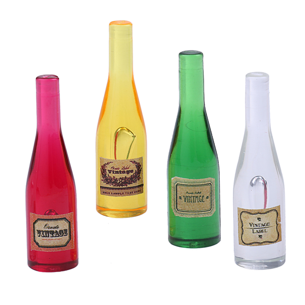 Dolls House Miniature Bottles of Wine Alcohol Drinks Bottle Food Kitchen