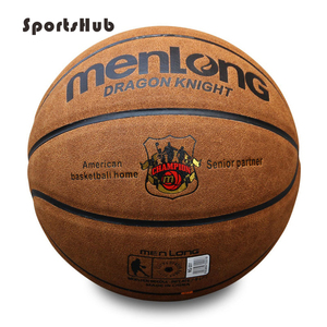 Image 2 - SPORTSHUB Size7 Echtem Leder Indoor & Outdoor Anti slip Sport Basketball Ball Anti reibung Basketball 2 Farben BGS0001