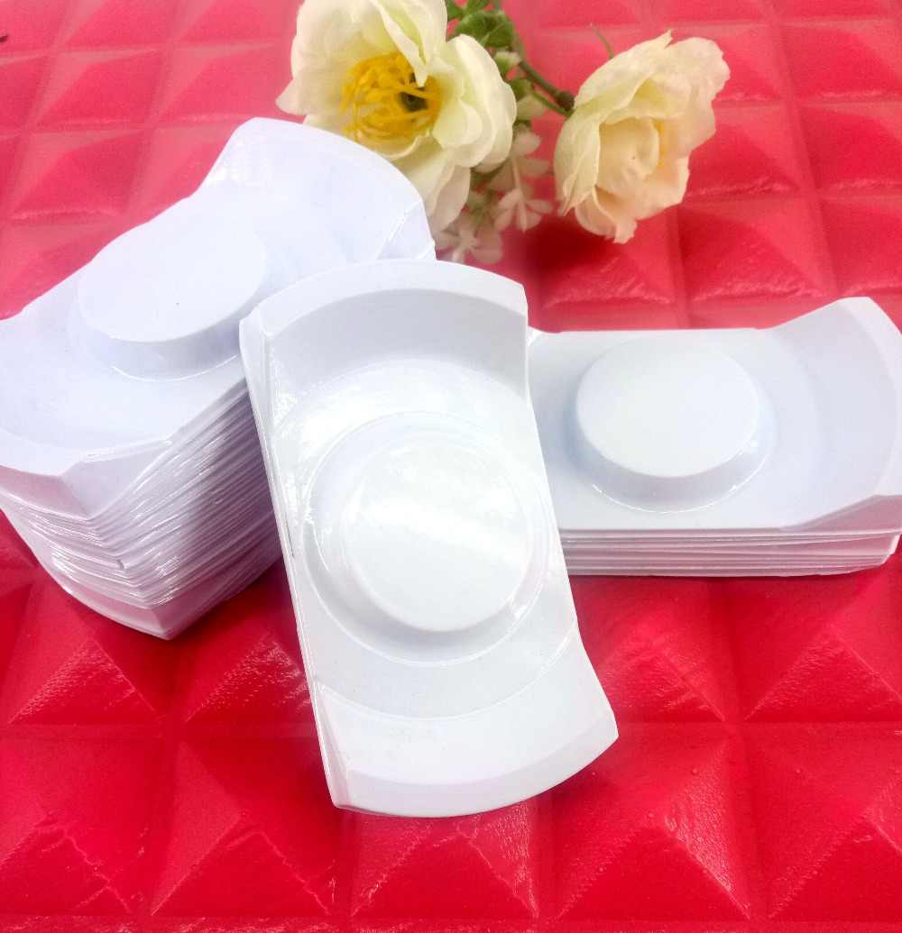 50 pcs/lot Packing box White tray for eyelash blank plastic package tray Eyelashes DIY soft packing box