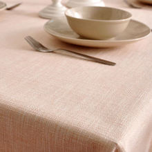 Simple modern thick solid color cotton tablecloth, coffee table cloth, small fresh mat