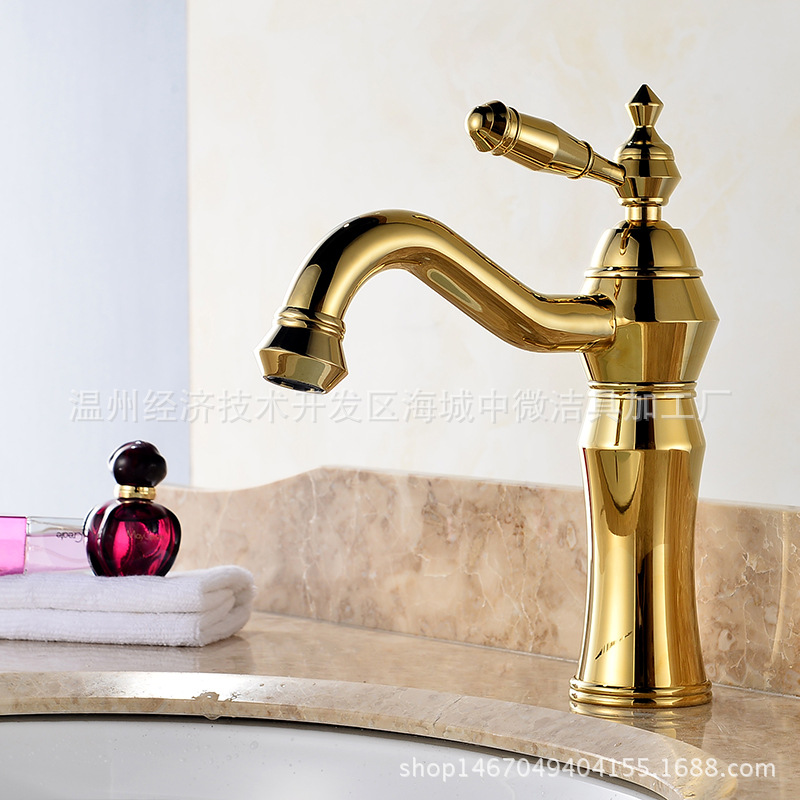 Antique Kitchen Faucets Brass Polished Gold Bathroom Faucet Single Handle Single Hole Sink Taps Hot Cold 360 Degree Deck Mounted ulgksd 360 degree rotaty kitchen faucet antique brass deck mounted single handle bathroom faucet hot and cold water mixer taps