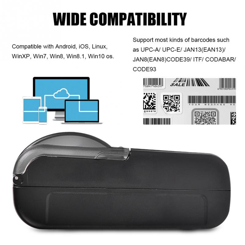 Mini USB Bluetooth Thermal Receipt Printer POS Printing for iOS Android Windows Linux EU Plug high quality