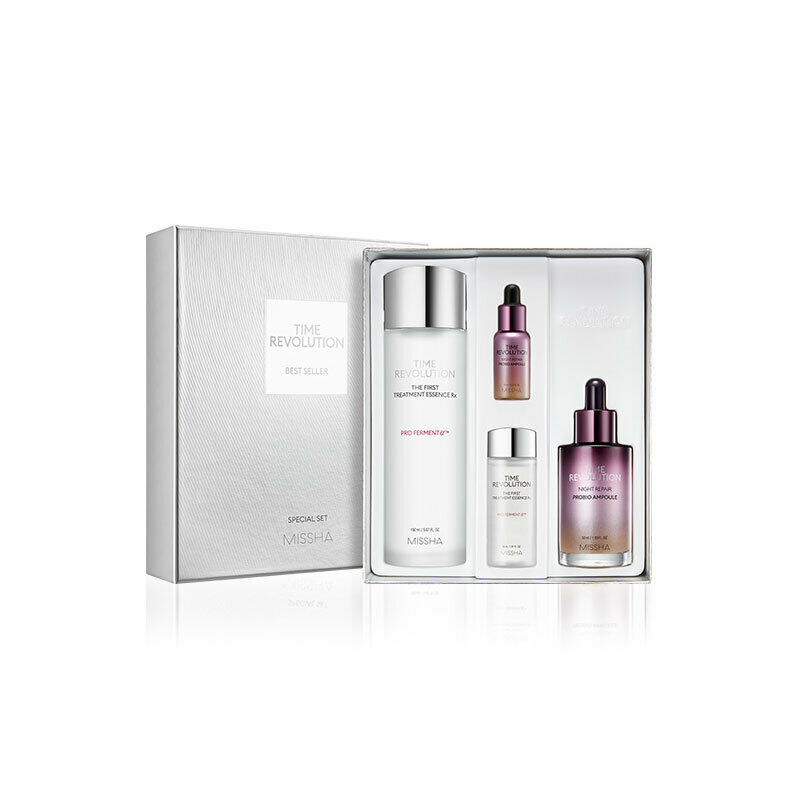 MISSHA Time Revolution Best Seller Special Set Facial Serum Anti Wrinkle Whitening Cream Moisturizing First Treatment Essence