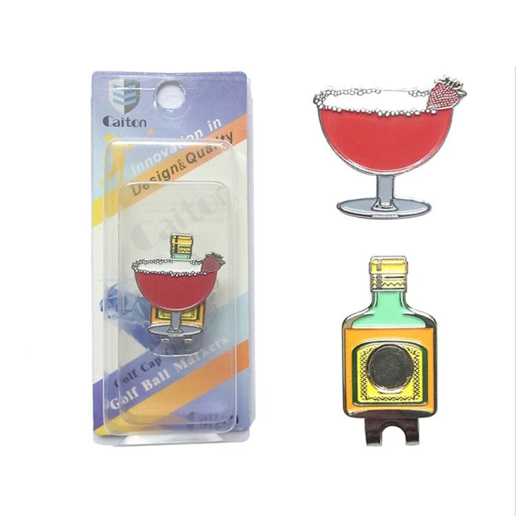 Golf Hat Cap Clip marker Wine Glass