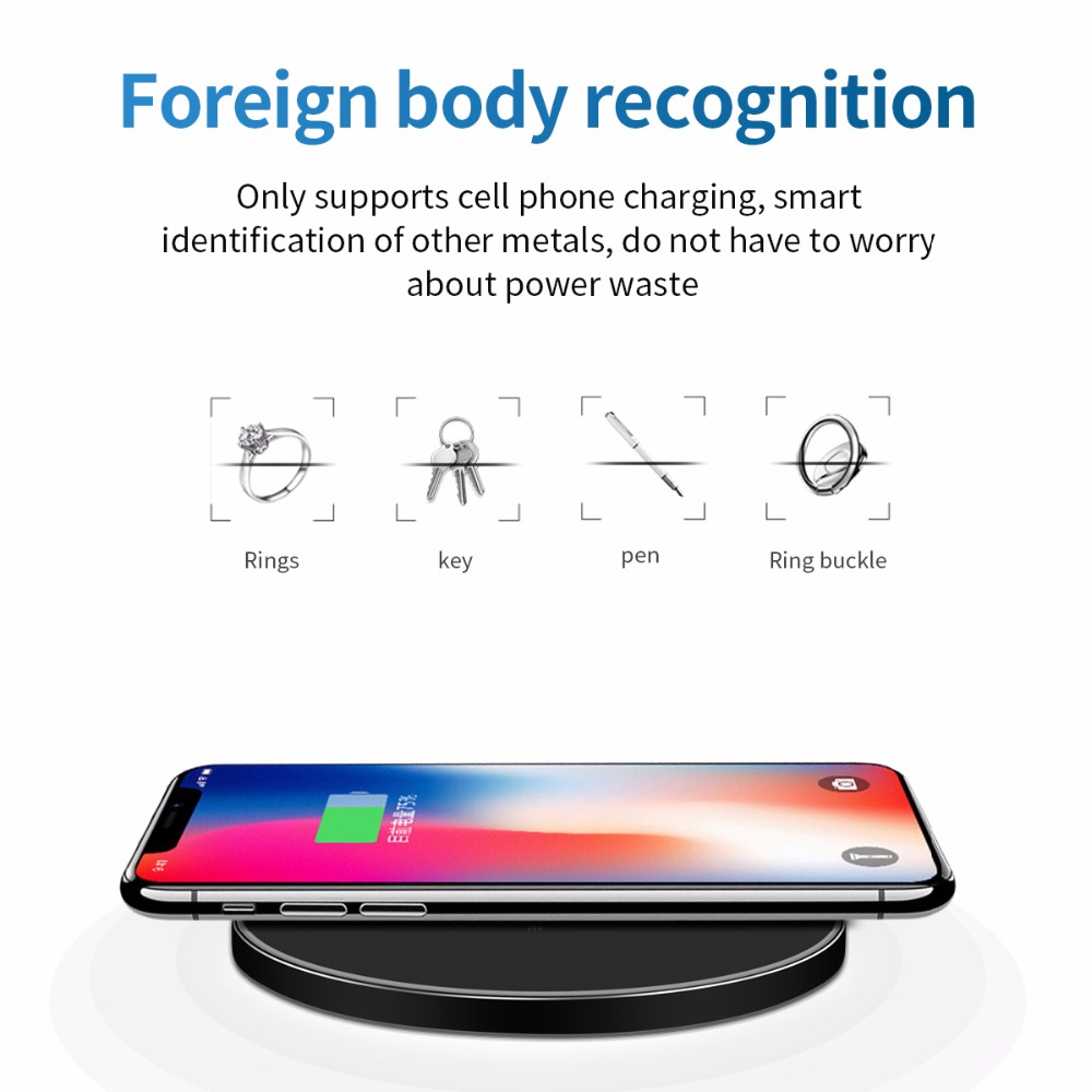 FDGAO 10W Fast Wireless Mobile Phone Charger For Fast Charging 6