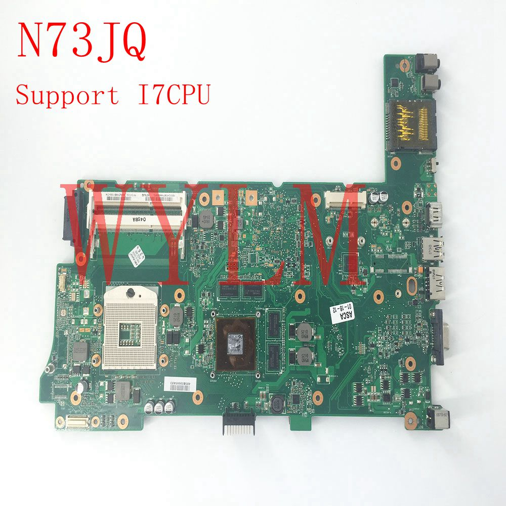 N73JQ HM55 Support i7 CPU N11P-GS-A1 1GB Mainboard REV 2.1 For ASUS N73JQ Laptop Motherboard 100% Tested Working free shipping dhl ems advantech industrial motherboard pca 6186 rev a1 with cpu for industry use a1