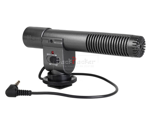 SG-108 DV Stereo Video Shotgun Mic Microphone for All Camcorder 3.5mm mic socket and Digital DSLR Camera DV Camcorder Sg108