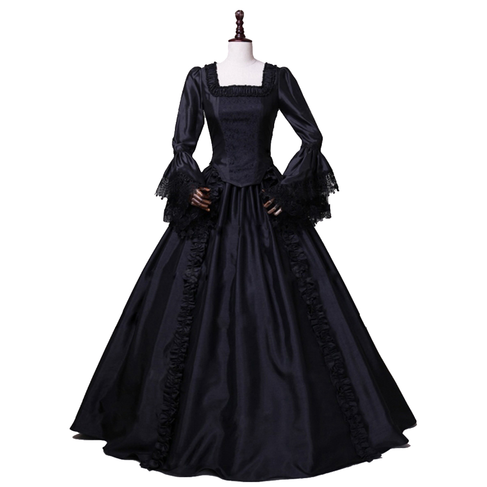 Купить с кэшбэком Gothic Marie Antoinette Victorian Ball Gown Renaissance Wench Gothic Princess Dress Ball Gown Vampire Theatre Halloween Costume