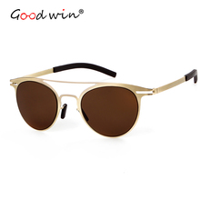 Good Win Sunglasses Women Cat Eye Luxury Brand Designer Oval Lens Coating Mirror UV400 Fashion Men Female Sun Glasses Shades
