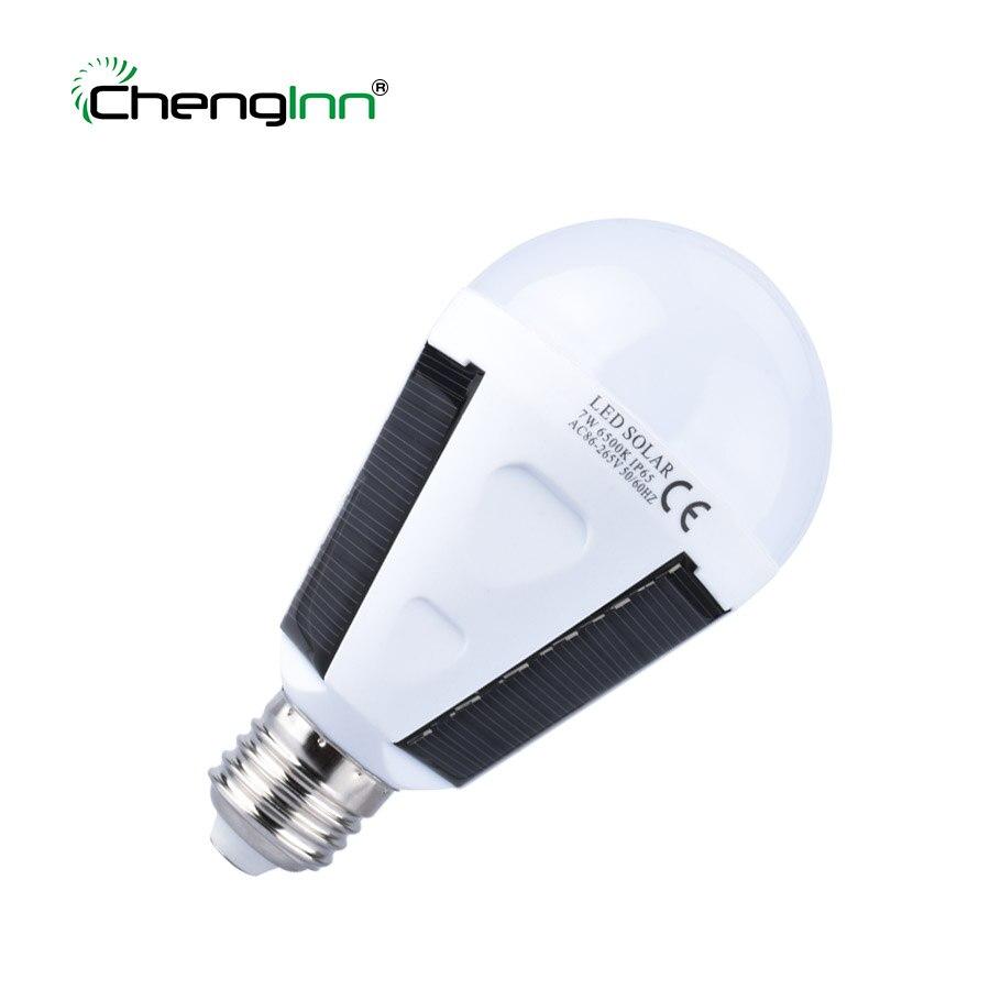 Chenglnn NL01 Мощность Портативный 7 Вт Перезаряжаемые Мощность ful E27 Солнечный светодиодный лампы труб 220 В светильник крытый свет освещение Фона... ...