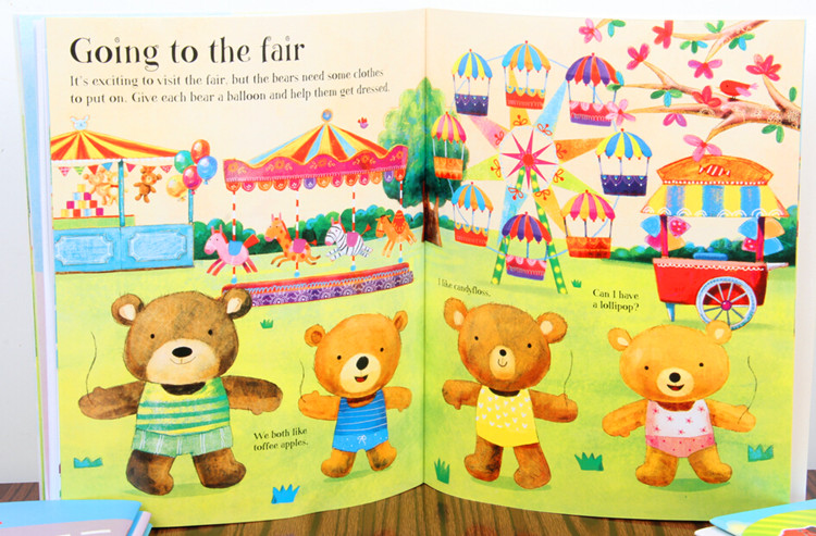 15pcs English childrens picture book original Parragon enlightenment warm parent-child storybook reading free shipping