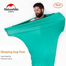 Naturehike fábrica vender nova viagem ao ar livre alta elasticidade saco de dormir forro portátil carry sheet hotel anti sujo saco de dormir
