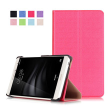 PU Leather-based Stand Cowl Case for Huawei Mediapad T2 7.zero Professional PLE-703L PLE 703L Pill +2Pcs Display screen Protector
