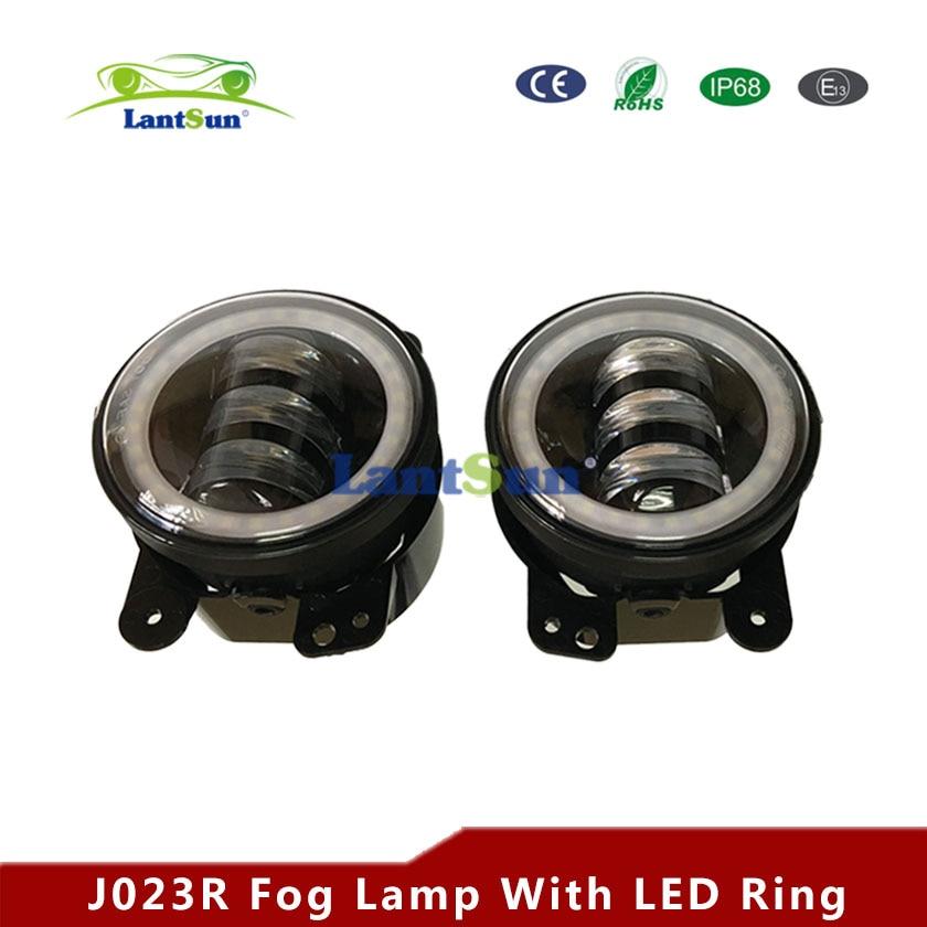 Paar J023R 6500K 30w 4 Zoll Led Nebelscheinwerfer mit Halo Ring DRL - Auto Lichter
