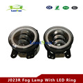 easy install pair 6500K 30w 4 Inch Led Fog Lights with halo ring DRL fits wrangler jk 22007~2015