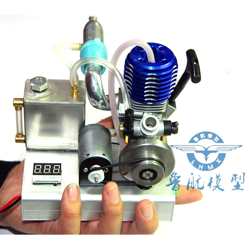 Blue head gasoline methanol engine micro internal combustion engine voltage and current 12v 1000 mAh