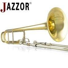 JAZZOR JBSL-801 tenor trombone B/F Плоский профессиональный белый медный тромбон с мундштуком с Чехол, перчатки, золотой Латунный ветер