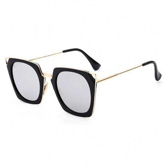 2017 Retro Logam Anti UV Fashion Square Kacamata Hitam Besar Ukuran Frame Pria  Wanita Kacamata Vintage d366789a86