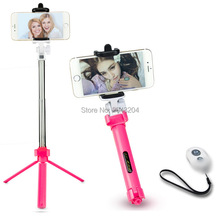 Portable Bluetooth Selfie Stick in Tripod For iPhone 4 5 6 7 Samsung Galaxy Android Wireless Control Hands Free