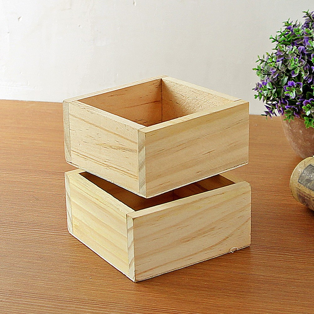 2018 Retro Style Wooden Succulent Plants Square Flower Pot Garden Handmade Planting storage box maceteros flower pot decoration strawberry grow bag gardening flower pot planting bag living indoor wall planter garden tool