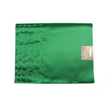 SL-1532,New design,Pearl inlay,African sego headties,Gele & Wrapper,2pcs/set,High Quality,NIGERA GREEN