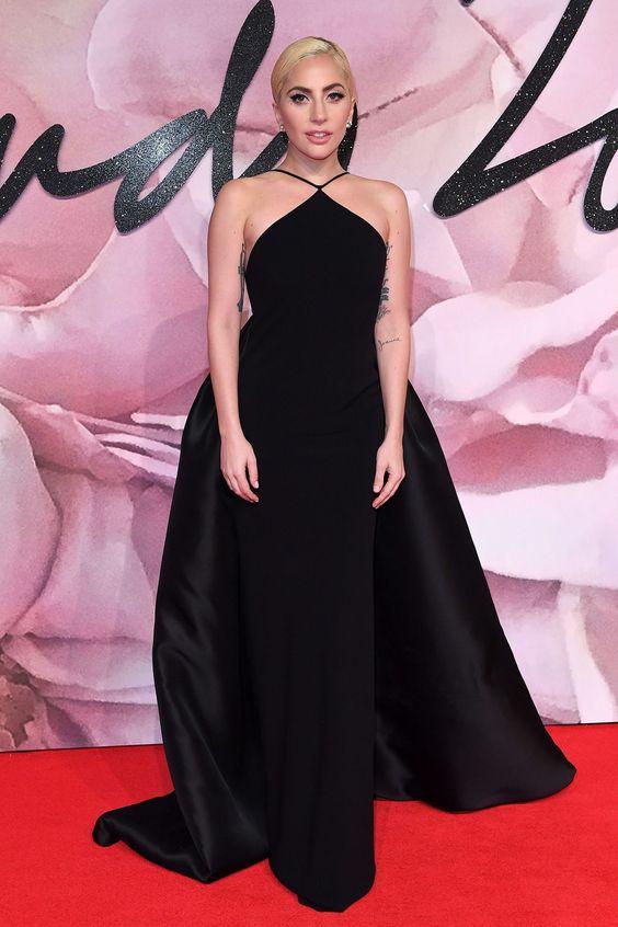 2017 Sexy Inspirado por Lady Gaga Celebrity Dress Red Carpet Vestido ...