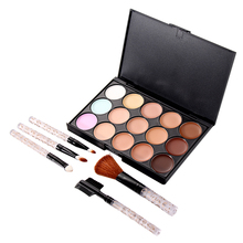 Beautiful Women Makeup Set 15 Colors Concealer Camouflage Concealer Palette 5 PCS Makeup Brush