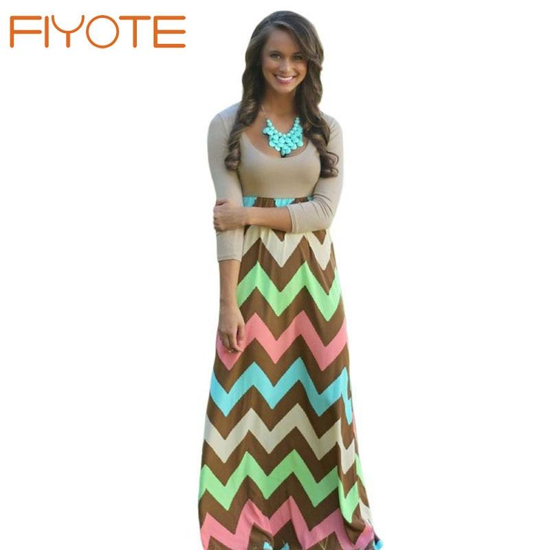 6d01bff035 2015 Autumn Floor Length Dress Beach Style 7 Color Three Quarter Sleeve Best  Day Ever Maxi Dress LC60581 Tank Chevron Curvy on Aliexpress.com