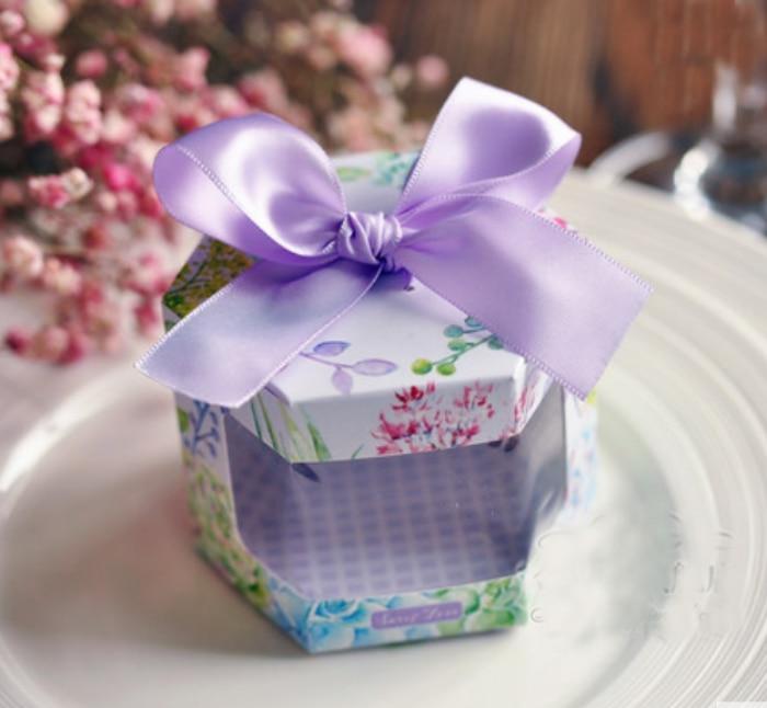 20 X Korean Floral Hexagonal Style Wedding Favors Candy