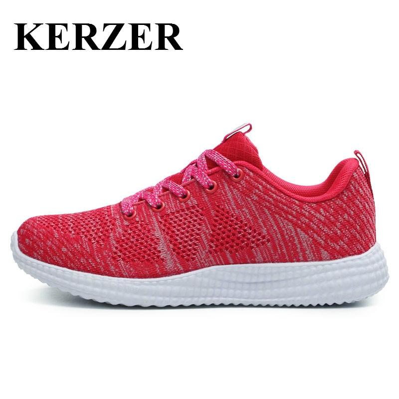 KERZER 2017 SpringSummer Woman Sport Shoes Luxury Brand Trail Running  Shoes Lightweight Walking Jogging Sneaker Ladies Trainers   Sport Shoes  Apparel Sport