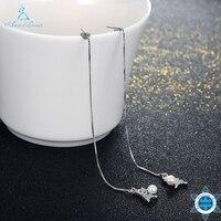 Ann & Sneeuw Nieuwe 925 Sterling Zilver Mooie Eiffeltoren Star Crystal Rubber kralen Lange Oorbellen Voor Vrouwen Party SVE013