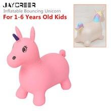 JayCreer Единорог батут надувной пространство Хоппер, езда-на надувной животное