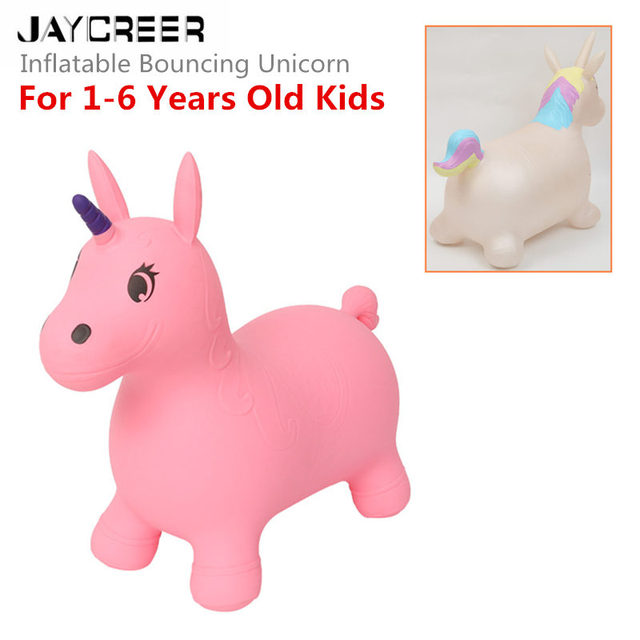 d100d4bf8bc JayCreer Unicorn Bouncer Inflatable Space Hopper