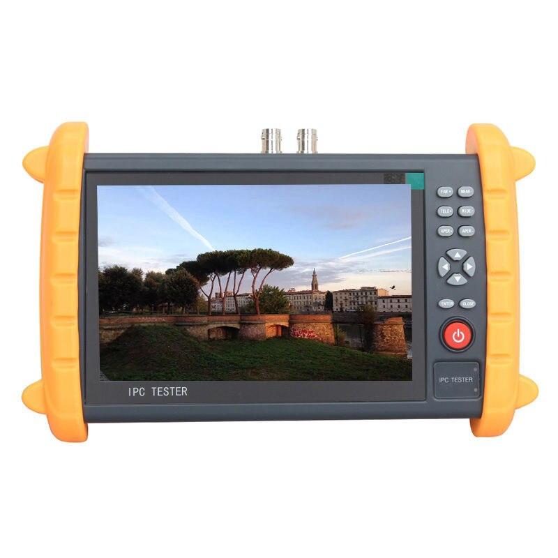 (1 Set) 7 inch IP CCTV tester monitor IP analog camera tester Wifi PTZ ONVIF protocol support 12V2A POE output HDMI output audio