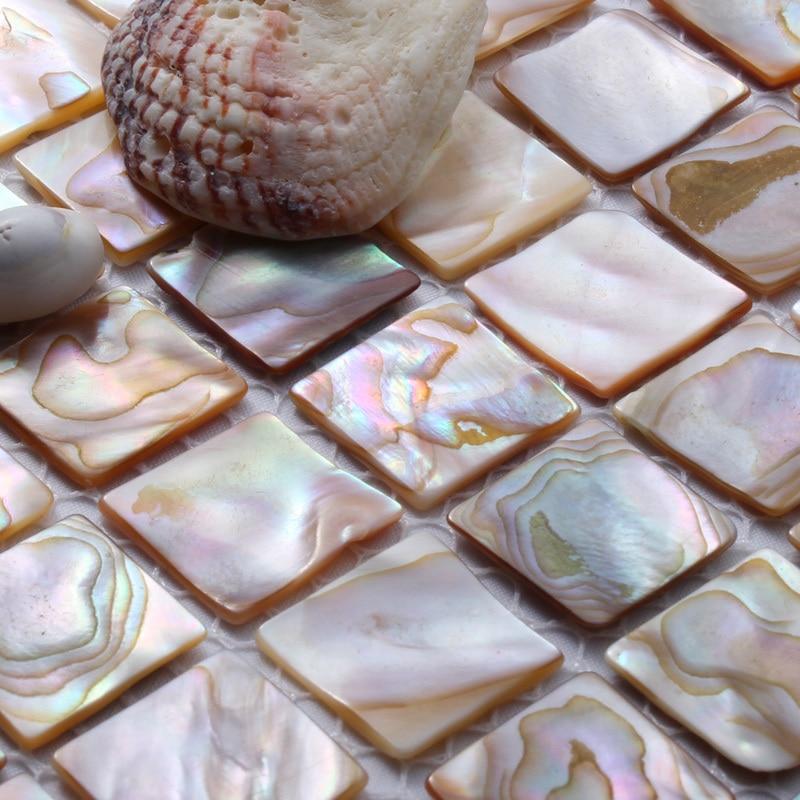 természetes héj mozaik csempe gyöngyház csempe konyha backsplash - Lakberendezés