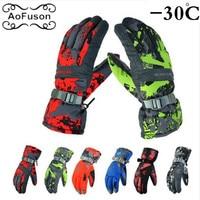 Winter Ski Gloves Women Men Waterproof Anti Cold Warm Thicker Outdoor Sport Snow Snowboarding Skiing Riding