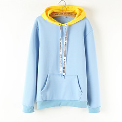Oversized Hoodies Women Korean Harajuku Hooded Sweatshirt Long Sleeve Color Matching Autumn Winter 2018 Tops Female Tracksuits 3