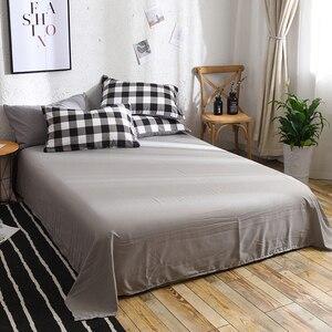 Image 5 - גבוהה איכות שחור לבן משובץ קצר דפוס מצעים סט מיטת רפידות מלך שמיכה כיסוי מיטת גיליון ציפות כיסוי סט 3 /4 יח\סט